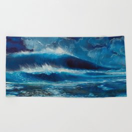 Moonlight Breaks Beach Towel