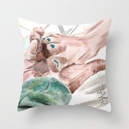 Bunny Lebowski Throw Pillow
