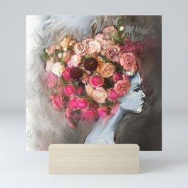Flower Bloom Girl Mini Art Print