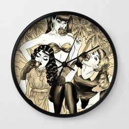 Blazing Summer Dream - Golden Edition Wall Clock