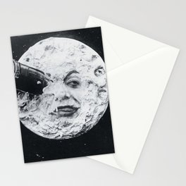 Vintage 1902 'Man in the Moon' silent film black and white photography Stationery Cards