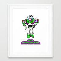 buzz lightyear Framed Art Prints featuring Buzz Longgoner...  The spookier version of Pixar's Buzz Lightyear from Toy Story by beetoons