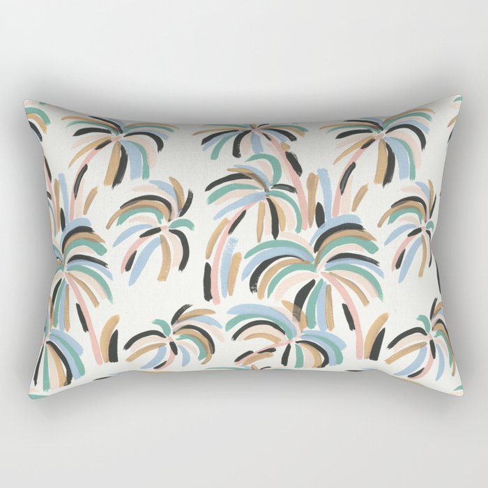 Rainbow Palm Rectangular Pillow