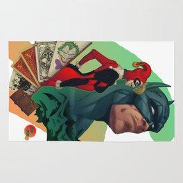 Deadly Hand - Bat man, Harley Quinn and Joker (TS color) Rug