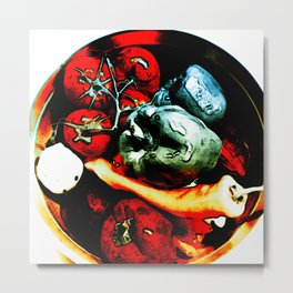 Bowl of Vegetables Metal Print