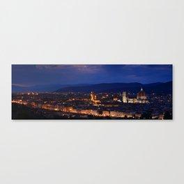 Panorama of Duomo Santa Maria Del Fiore, tower of Palazzo Vecchio. Canvas Print