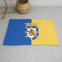 flag of santiago de Chile Rug