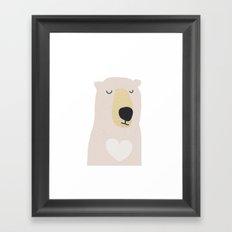 I love you beary much Framed Art Print