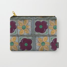 Big Red Poppy and Big Yellow Daisy Quad Flip Carry-All Pouch