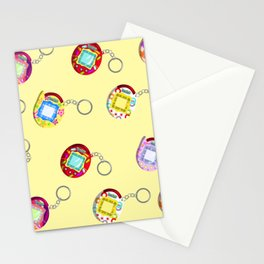 Tamagotchi Connection V2-Yellow Stationery Cards