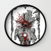 mad hatter Wall Clocks featuring Mad Hatter by Mongolizer