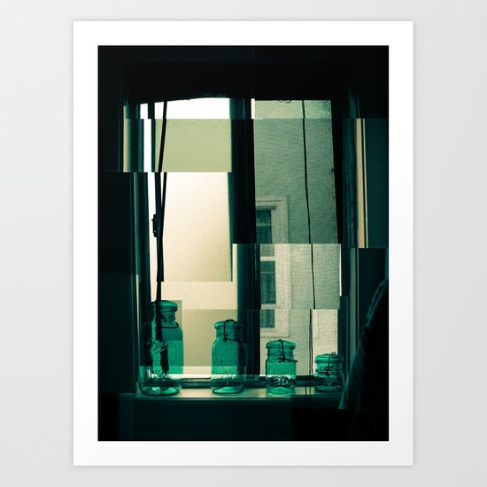 Window Cubism. Art Print