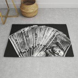 Money - Black And White Rug