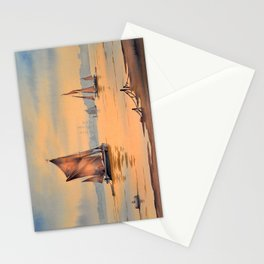 Barges On The River Thames Greenwich London Stationery Cards