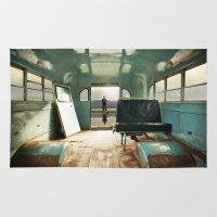 door Area & Throw Rugs featuring Emergency Door by Rachel Bellinsky