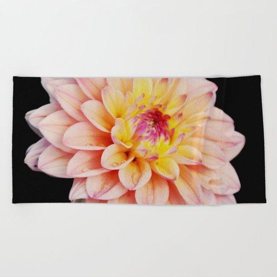 Light Pink Dahlia #2 Beach Towel