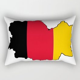 Germany Map with German Flag Rectangular Pillow