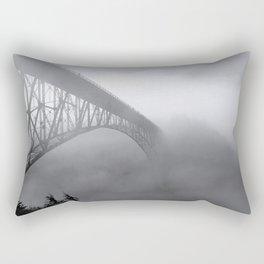 Foggy Deception Pass Rectangular Pillow