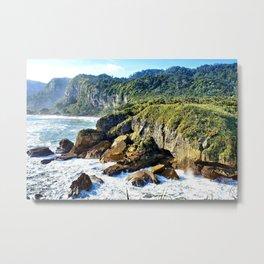 Coastal View in Punakaiki Metal Print