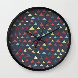 mod multi colored triangles Wall Clock