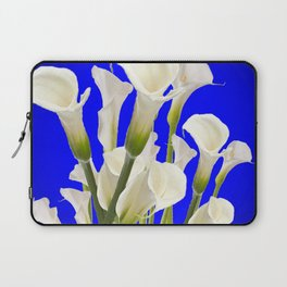 WHITE CALLA LILIES ON SHADED BLUE ART Laptop Sleeve