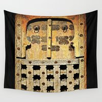 door Wall Tapestries featuring Door by Saundra Myles