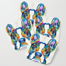 Colorful Boston Terrier Dog Pop Art - Sharon Cummings Coaster