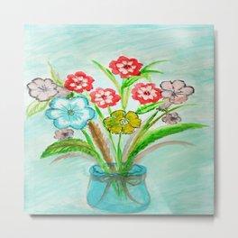 Flowers in a Vase~ Metal Print