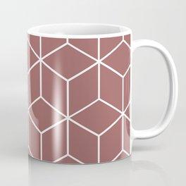 Cube Geometric 03 Dark Pink Coffee Mug