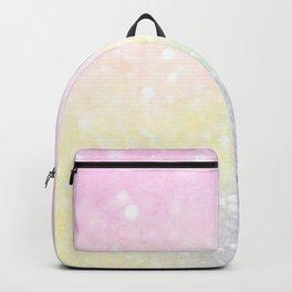 Pretty Chic Pastel Colors Glitter Bokeh Decorative Backpack
