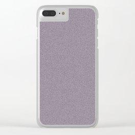 Dense Melange - White and Dark Purple Clear iPhone Case