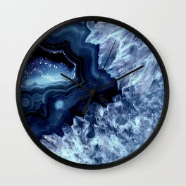Dark Teal Quartz Crystal Wall Clock