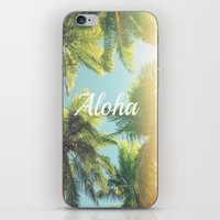 aloha iPhone & iPod Skins featuring AloHa by ''CVogiatzi.