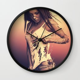 Fractured 01 Wall Clock
