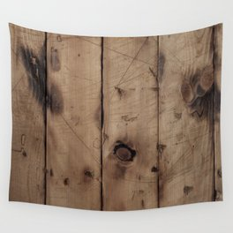 Burnt WoodGrain Wall Tapestry