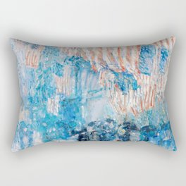 The Avenue in the Rain Painting by Childe Hassam Rectangular Pillow