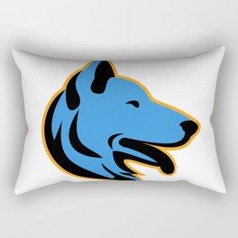 German Shepherd Dog Side Mascot Rectangular Pillow