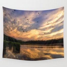 Coming in to Roost Wall Tapestry