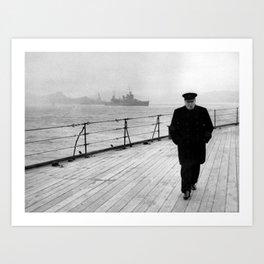 Winston Churchill At Sea Art Print