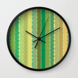 Multi-faceted decorative lines 8 Wall Clock