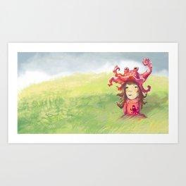 octopuslady Art Print