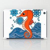 seahorse iPad Cases featuring Seahorse by tamaradeborah