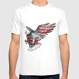 Watercolor bald eagle symbol of the United States T-shirt