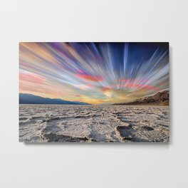 Stopping Time : Colorful Sky Landscape Metal Print
