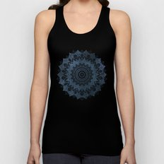 BOHOCHIC MANDALA IN BLUE Unisex Tank Top