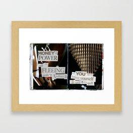 Money for Power Print Framed Art Print