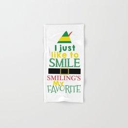 I just like to Smile - Buddy the Elf Hand & Bath Towel