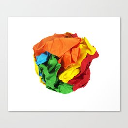 Crumpled paper ball Canvas Print