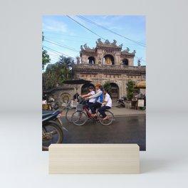 BIKE RIDERS IN HOI ANN Mini Art Print