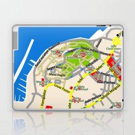 Tel Aviv map - Jaffa area Laptop & iPad Skin